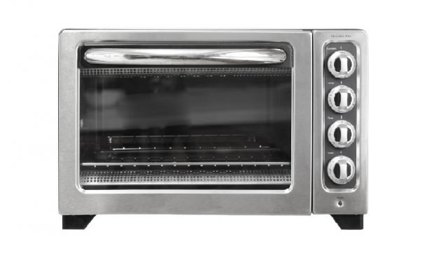 kitchenaid convection oven reviews | illustrative photo of stainless steel countertop oven with four dials