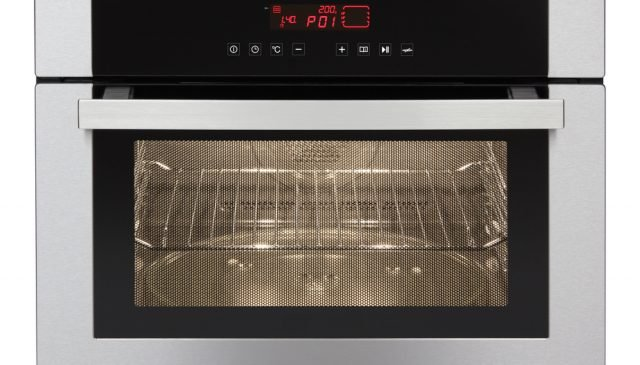 Best Microwave Convection Ovens | close up cropped photo of convection microwave with rack and turntable