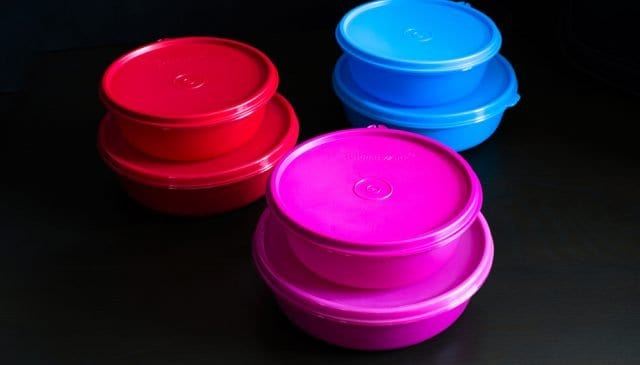 Can You Put Tupperware In The Microwave | photo of stacked Tupperware containers