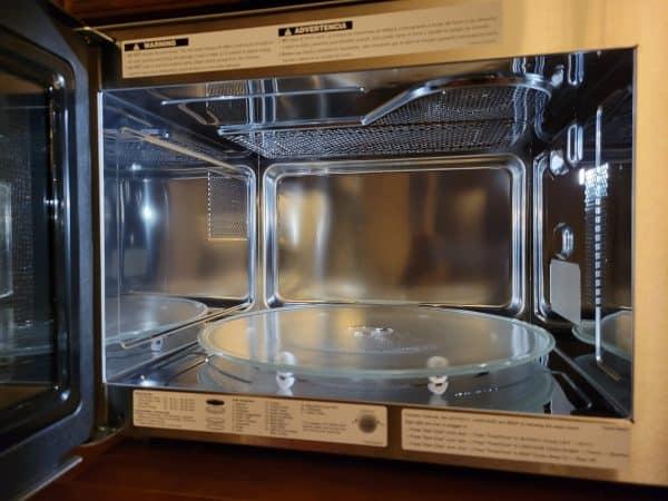 Panasonic Convection Microwave Review | photo of interior of new Panasonic NN-CD87KS
