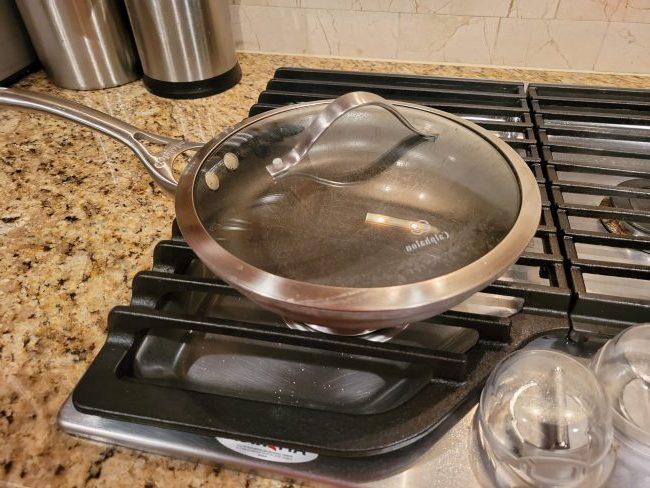 Photo of Calphalon pan on stove